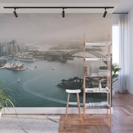 Sydney Opera House Harbour Bridge | Australia Aerial Travel Photography Wall Mural