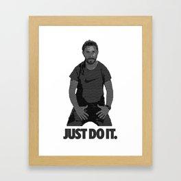 JUST DO IT! Framed Art Print