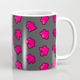Pink Game Meeples Coffee Mug