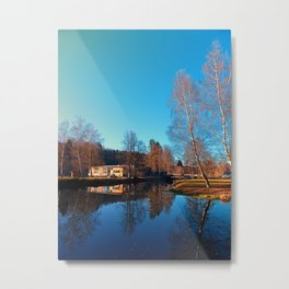 Winter mood on the river II | waterscape photography Metal Print