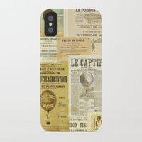 ballon iPhone & iPod Cases featuring Le Ballon by Ephemera's Vintage Garden
