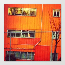 Orange Industrial Canvas Print