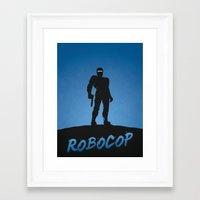 robocop Framed Art Prints featuring RoboCop by Nick Kemp