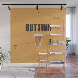 Funny Cutting Chai Tea Hindi Quote Wall Mural