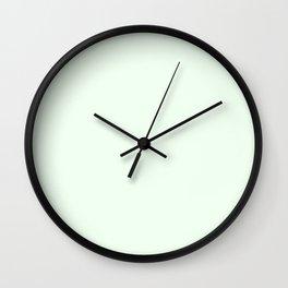 Honeydew - solid color Wall Clock