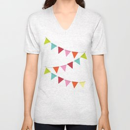 Hooray for girls! Unisex V-Neck