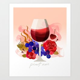 Wine Notes – Pinot Noir Art Print