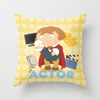 actor Throw Pillows featuring Actor by Alapapaju
