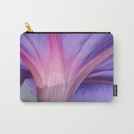 Macro of a Pale Liliac and Pink Morning Glory Carry-All Pouch