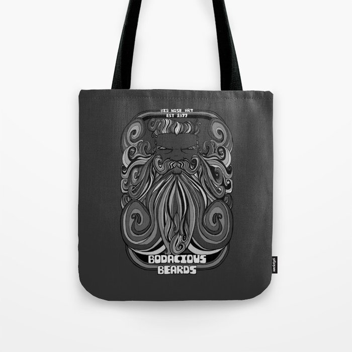 Bodacious Beard - Harbour Mist Grey Tote Bag
