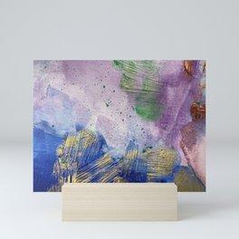 Sandman Dust: Royal Blue, Purple, Green and Gold Abstract Painting Mini Art Print