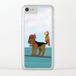 Augie Redbeard Clear iPhone Case