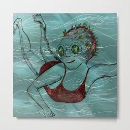 Blue Swimmer no. 3 Metal Print