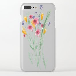 A Bunch of Flowers Clear iPhone Case