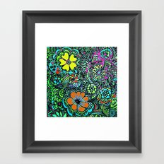 Because Color Brightens the World Framed Art Print