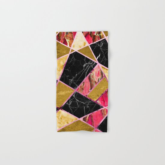 Abstract #456 Marble & Gold Hand & Bath Towel