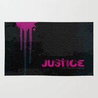 justice Area & Throw Rugs featuring JUSTICE by TheCore