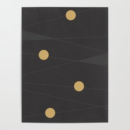 Black and Gold Poster
