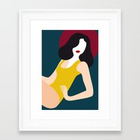 pinup Framed Art Prints featuring Pinup by Laura Moreau