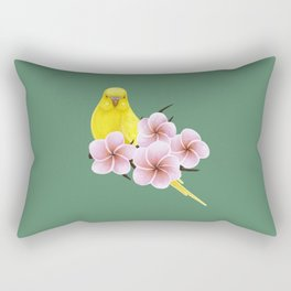 Yellow Budgerigar Rectangular Pillow