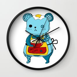 """Kookie"" The Bear Wall Clock"