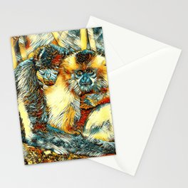 AnimalArt_Gibbon_20170901_by_JAMColorsSpecial Stationery Cards