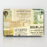 ballon iPad Cases featuring Le Ballon by Ephemera's Vintage Garden
