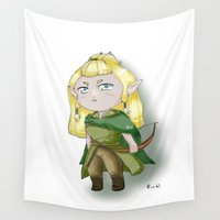 chibi Wall Tapestries featuring Chibi Legolas by Miss No!