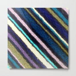 Colorful Terrycloth Stripes Metal Print