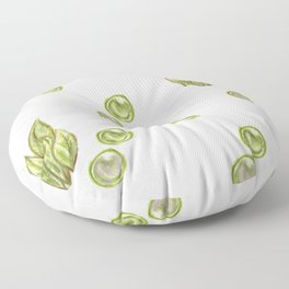 green bushes and bubbles Floor Pillow