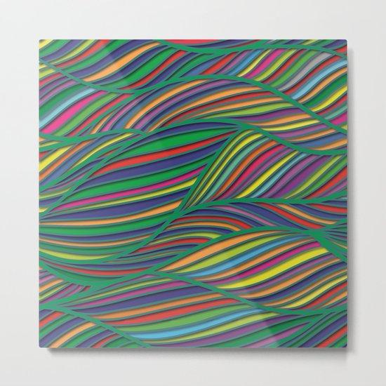 Flowing Lines Metal Print