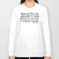 waldo Long Sleeve T-shirts featuring Ralph Waldo Emerson: Beautiful by Leah Flores
