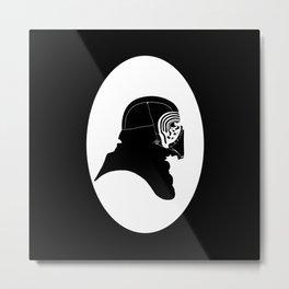 Kylo Ren silhouette  Metal Print