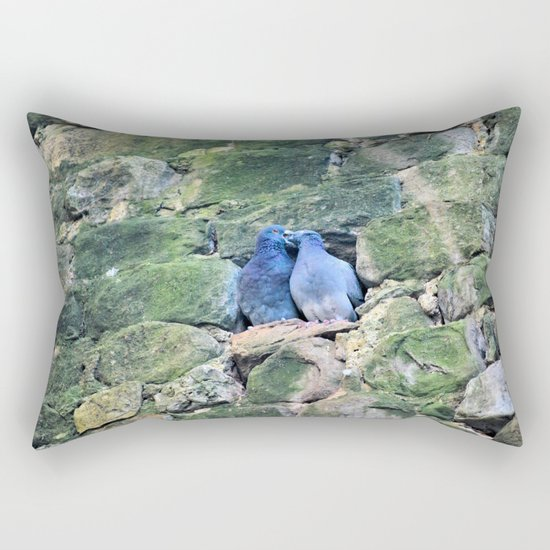 Italian Love Doves Rectangular Pillow