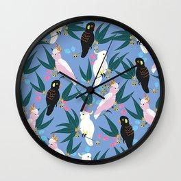 Cockatoos in the Garden Wall Clock