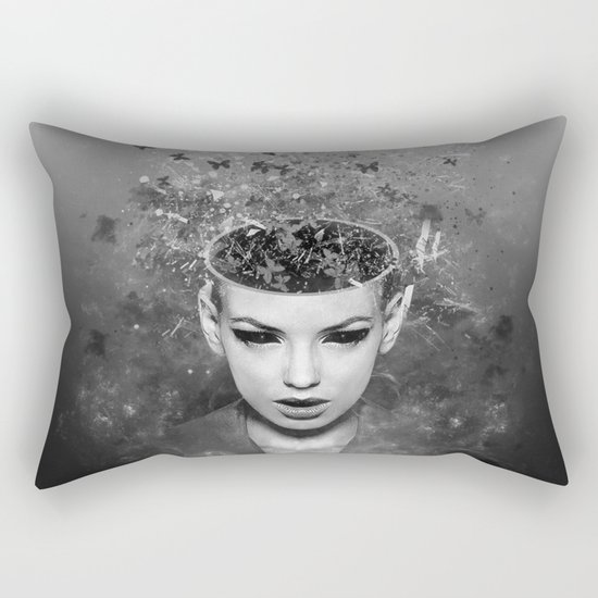 I walk alone to find the way home Rectangular Pillow