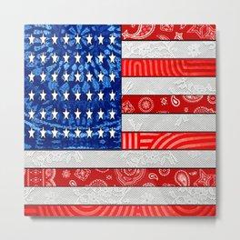 Retro American Flag Metal Print