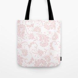 Vintage blush pink elegant floral damask Tote Bag
