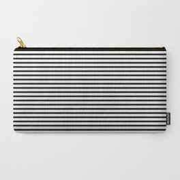 White Black Stripe Minimalist Carry-All Pouch