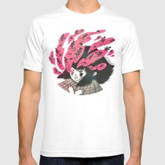 Nature vs Nurture White SMALL Mens Fitted Tee