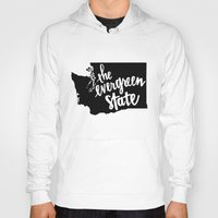 washington Hoodies featuring Washington State by Caleb Swenson