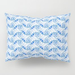 Blue floral pattern in Russian Gzhel style Pillow Sham