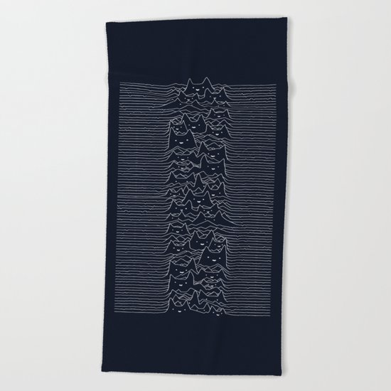 Furr Division Cats (Dark Blue) Beach Towel