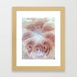 crystal rose Framed Art Print