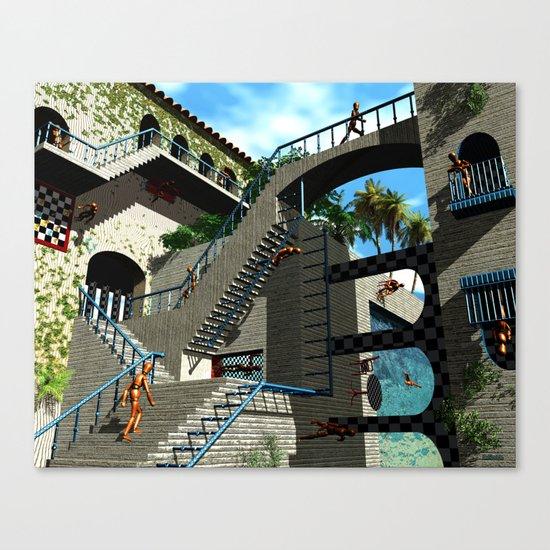 Optical Illusion - Tribute to Escher Canvas Print