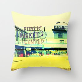 Pike Place Market | Project L0̷SS   Throw Pillow