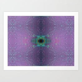 Silicon-based life form - E5 purple Art Print