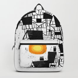 Illustration Abstract town Backpack