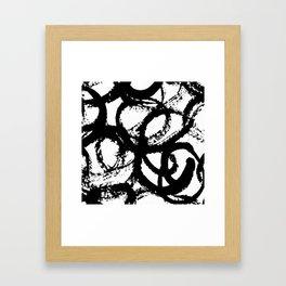 Dance Black and White Framed Art Print