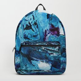 Faces in blue Backpack